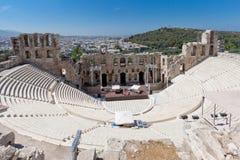 Odeon del Atticus Atene Grecia di Herodes Fotografie Stock Libere da Diritti