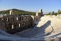 Odeon del Atticus de Herodes Fotografía de archivo