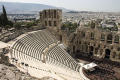 Odeon del Atticus de Herodes, acrópolis, Grecia Fotografía de archivo libre de regalías