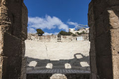Odeon del Atticus di Herodes immagini stock libere da diritti
