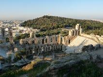 Odeon dell'attico di Herodes, Atene, Grecia Immagine Stock