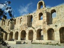 Odeon do Atticus de Herodes fotos de stock