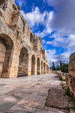 Odeon do Atticus de Herodes, Atenas, Grécia Fotografia de Stock