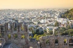 Odeon do Atticus de Herodes em Grécia Foto de Stock