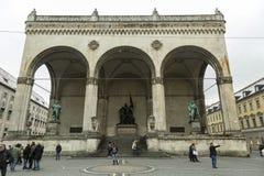Odeon fyrkant i Munich en av stadsgränsmärket arkivbild