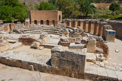 Odeon. Gortyn, Крета, Греция стоковые изображения