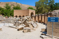 Odeon. Gortyn, Крит, Греция стоковая фотография rf