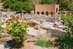 Odeon. Gortyn, Creta, Grécia Fotografia de Stock Royalty Free