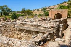 Odeon. Gortyn, Crete, Grecia fotos de archivo