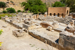 Odeon in Gortyn. Crete, Greece Royalty Free Stock Photography