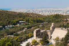 Odeon of Herodes in Athens Stock Image