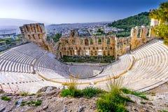 Odeon Herodes Attiacus Acropolis Athens Greece Royalty Free Stock Image