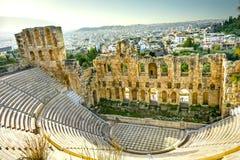 Odeon Herodes Attiacus Acropolis Athens Greece Stock Images