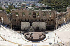 Odeon of Herodes Atticus. Is located on the south slope of the Acropolis of Athens, Greece Stock Photo