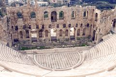 Odeon of Herodes Atticus Royalty Free Stock Images