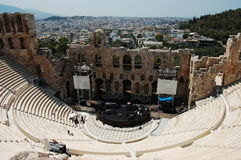 Odeon of Herodes Atticus. Odeon theatre of Herodes Atticus in Athens, Greece royalty free stock image