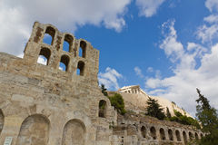 Odeon of Herodes Atticus and Acropolis, Athens Royalty Free Stock Images