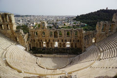 Odeon of Herodes Atticus of the Acropolis, Athens, Greece Royalty Free Stock Image