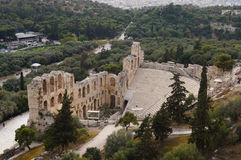 Odeon of Herodes Atticus of the Acropolis in Athens,Greece Royalty Free Stock Photo