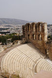 Odeon of Herodes Atticus  of the Acropolis of Athens ,Greece. Odeon of Herodes Atticus of the Acropolis of Athens in Greece Stock Image