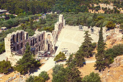 Odeon of Herodes Atticus in Acropolis of Athens Royalty Free Stock Photos