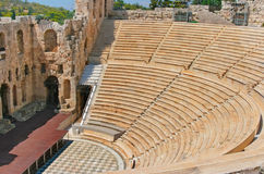 Odeon of Herodes Atticus in Acropolis, Greece Royalty Free Stock Photo