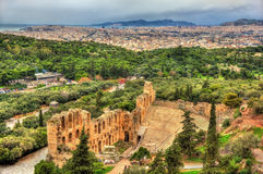 Odeon of Herodes Atticus, an ancient theatre in Athens Stock Photo