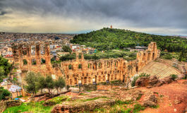 Odeon of Herodes Atticus, an ancient theatre in Athens Stock Photography