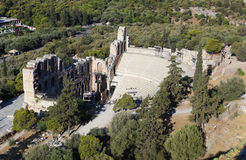 The Odeon of Herodes Atticus in Athens Stock Photos