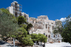 Odeon of Herodes Atticus Athens Greece Royalty Free Stock Images