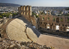 Odeon of Herodes Atticus in Athens. Greece.  Royalty Free Stock Photo