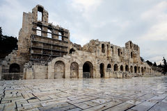 Odeon of Herodes Atticus. Athens ,Greece. Odeon of Herodes Atticus in Athens and Acropolis,Greece Stock Image