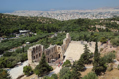 The Odeon of Herodes Atticus, Athens Stock Images