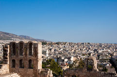 The Odeon of Herodes Atticus on August 1, 2013. Greece, Athens. Royalty Free Stock Image