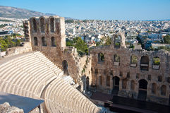 The Odeon of Herodes Atticus on August 1, 2013. Greece, Athens. Royalty Free Stock Photos