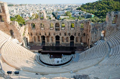 The Odeon of Herodes Atticus on August 1, 2013. Greece, Athens. Stock Photography