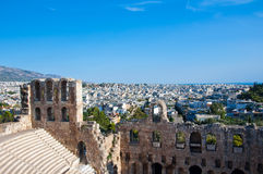 The Odeon of Herodes Atticus on August 1, 2013. Greece, Athens. Royalty Free Stock Images