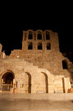 Odeon of Herodes Atticus at night. Greece, Athens. Royalty Free Stock Photos