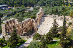 The Odeon of Herodes Atticus on the south slope of the Acropolis Royalty Free Stock Photos