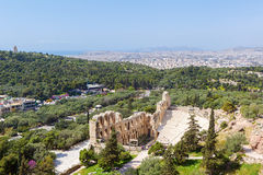 The Odeon of Herodes Atticus on the south slope of the Acropolis Stock Image
