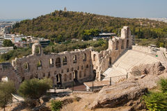 Odeon of Herodes Stock Images