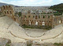 Odeon of Herodes Atticus Theater, Acropolis of Athens Royalty Free Stock Photos