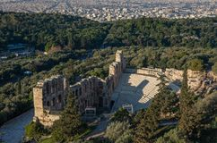 The Odeon of Herodes Atticus Theatre in Athens Stock Photos
