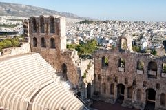 The Odeon of Herodes Atticus theatre in Athens Royalty Free Stock Photos
