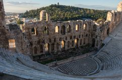The Odeon of Herodes Atticus Theatre in Athens Royalty Free Stock Images