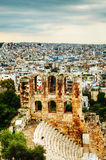 The Odeon of Herodes Atticus view in Athens Stock Images