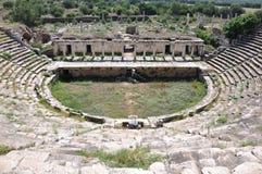 Odeon på den forntida staden för Aphrodisias, Pamukkale Arkivbild