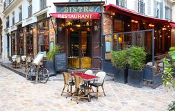 The Odeon Relais is a great Parisian brasserie located on Saint Germain boulevard in Paris, France. Paris, France-November 26, 2017 : Located on the Boulevard Royalty Free Stock Image