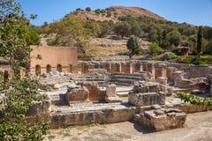 Odeon-Ruinen, archäologische Fundstätte Gortyn, Insel von Kreta, Griechenland, Lizenzfreie Stockfotografie