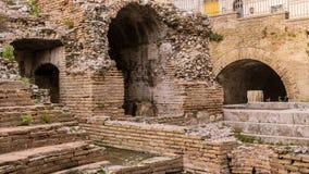 Odeon - taormina,废墟古希腊剧院  库存图片